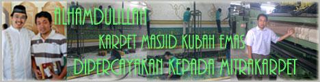 Karpet Masjid Kubah Emas