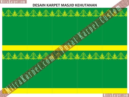 Project Karpet Masjid Departement Kehutanan Manggala Wanabakti, Senayan Jakarta