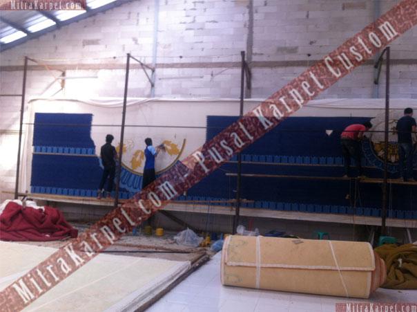 Proses Pembuatan Karpet Masjid Bimantara MNC Tower Kebon Sirih Jakarta Pusat