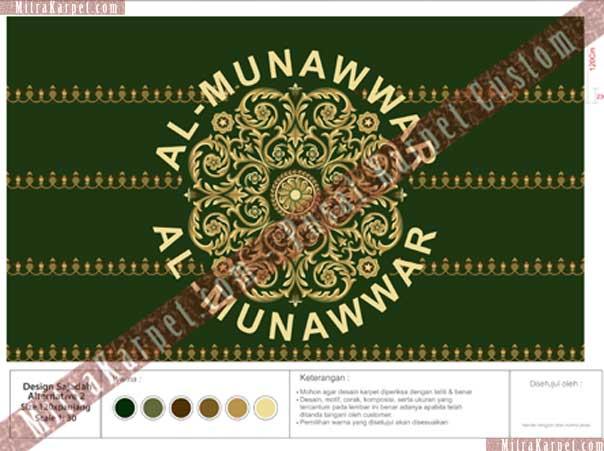 desain karpet masjid al munawwar balikpapan