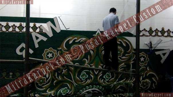 Proses pembuatan karpet masjid Al Munawwar Balikpapan