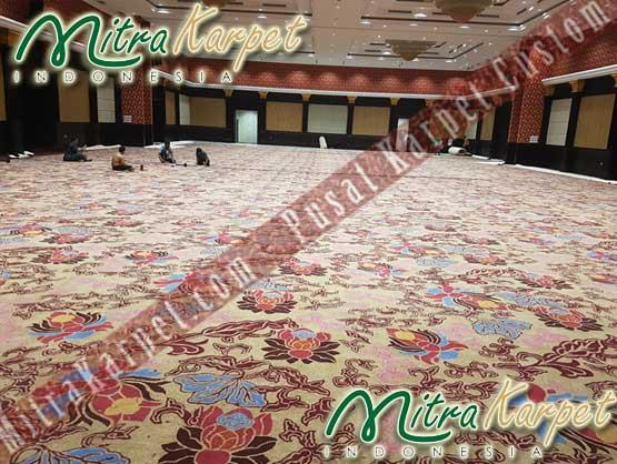 Karpet Hotel Ballroom Berkualitas Dipasang Tenaga Ahli Mitra Karpet
