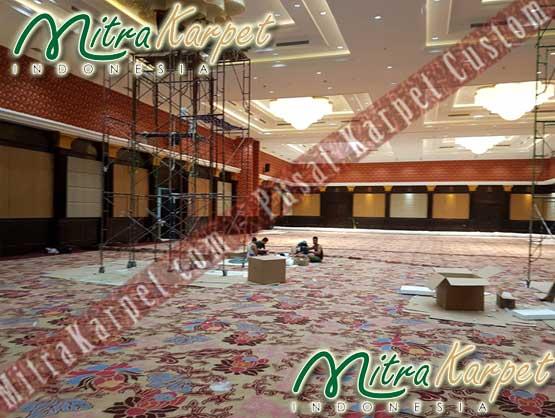 Karpet Hotel Ballroom Proses Pemasangan