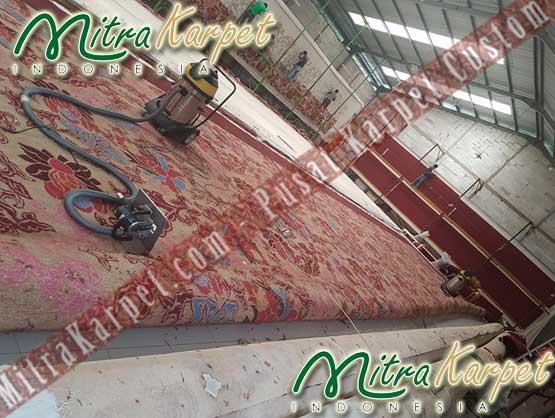Karpet Hotel Ballroom setelah proses Handtufted