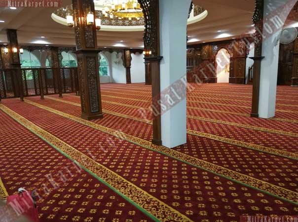 Cantiknya Karpet Masjid Darul Taqwa Sarawak Malaysia