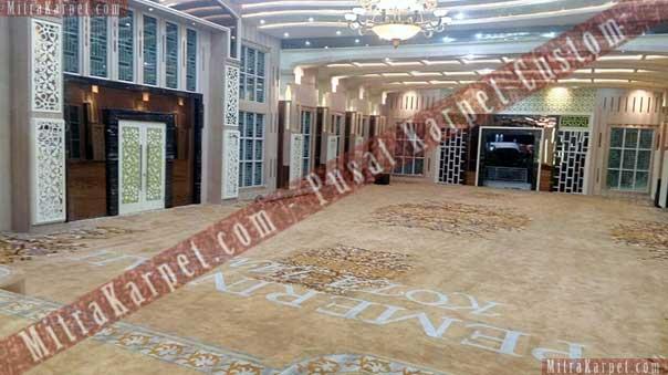 Indahnya karpet aula kantor gubernur jambi