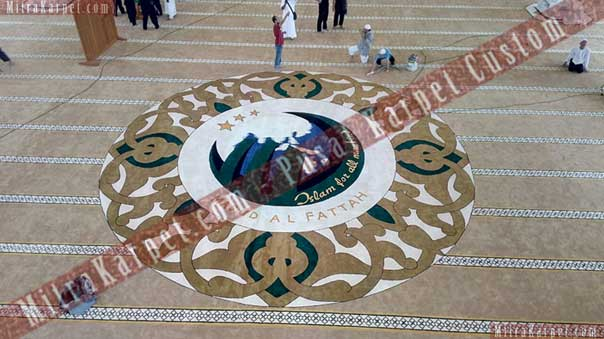 Karpet Masjid Al–Fattah Tasikmalaya Jawa Barat