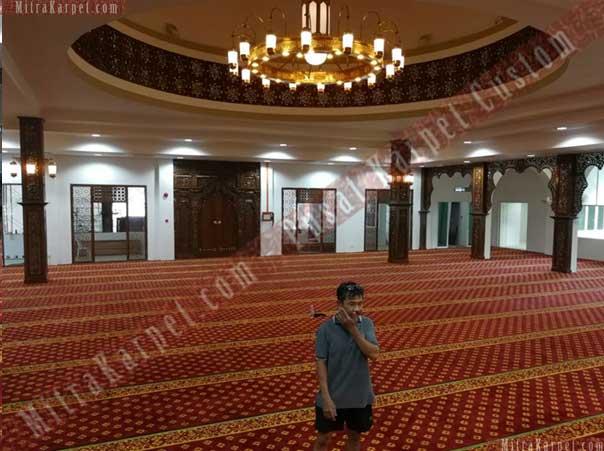 Karpet Masjid Darul Taqwa Sarawak Malaysia siap dipakai