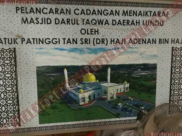 Project Karpet Masjid Darul Taqwa, Lundu Sarawak, Malaysia