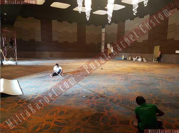 Pemasangan karpet ballroom hotel golden tulip pekanbaru