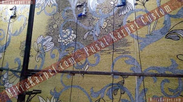 Pembuatan Karpet Ballroom Hotel Crystal–Kuta Bali