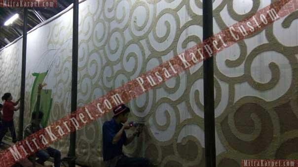 Pembuatan Karpet Ballroom Hotel Kamojang – Garut Jawa Barat