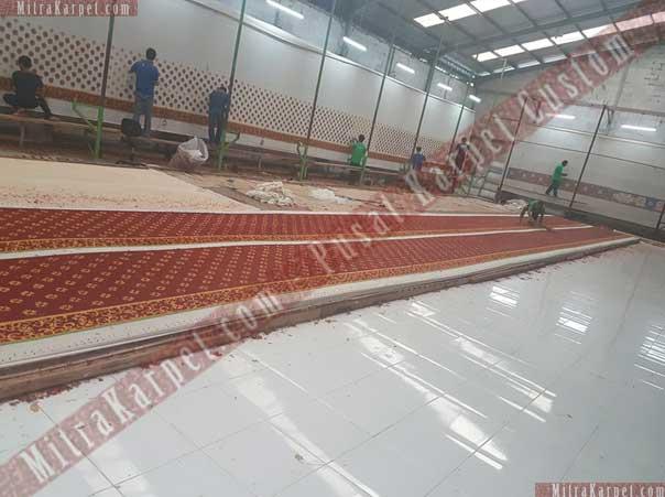 Proses Pembuatan Karpet Masjid Darul Taqwa Sarawak Malaysia