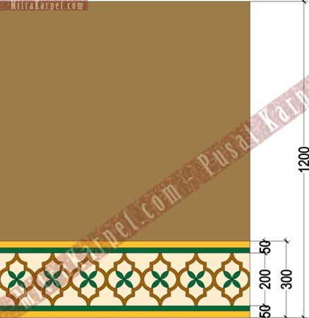 Desain  Karpet Masjid Al–Fattah Tasikmalaya Jawa Barat