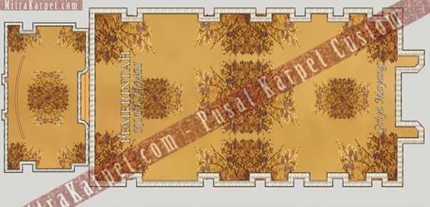 desain karpet aula kantor gubernur jambi