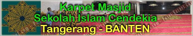 Proyek Karpet Masjid Insan Cendikia Tangerang Banten
