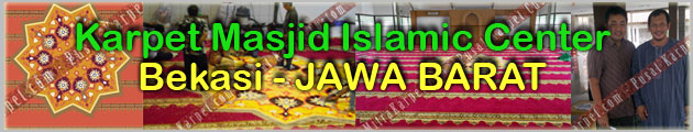 Proyek Karpet Masjid Islamic Center Bekasi Jawa Barat