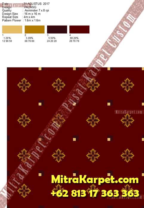 Desain Karpet Ballroom Axminster IAIN Imam Bonjol Padang MitraKarpet.com +62 813 17 363 363
