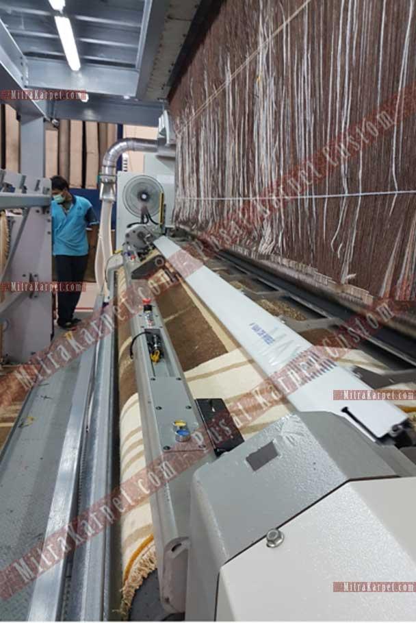Proses Manufaktur Karpet Ballroom Bapindo Jakarta Axminster