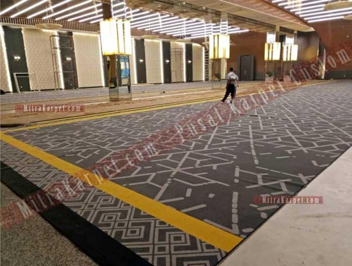 Pasang Karpet Ballroom Bapindo Jakarta Axminster