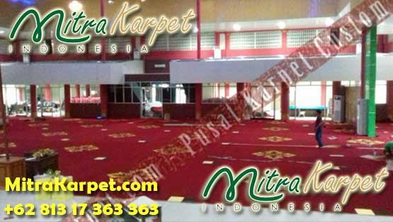 Pemasangan Karpet Axminster Ballroom IAIN Padang MitraKarpet.com +62 813 17 363 363