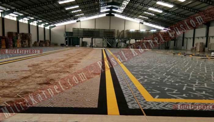 Proses Shearing Karpet Axminster di Pabrik Karpet