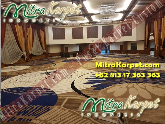 Pemasangan Karpet Ballroom Custom Gedung Patra Jasa