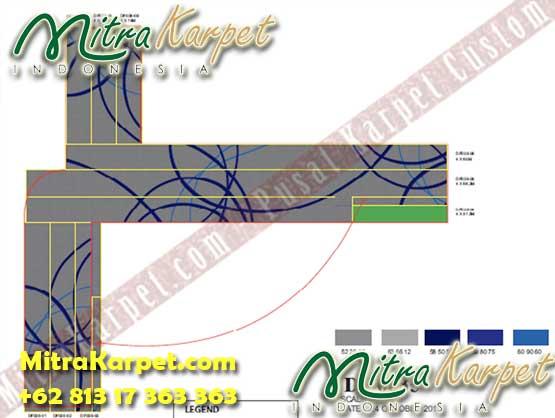 Desain Karpet Bandara Kualanamu Medan