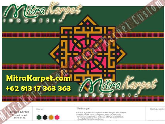 Desain Karpet Masjid Custom Samarinda Al Maruf Kalimantan Timur