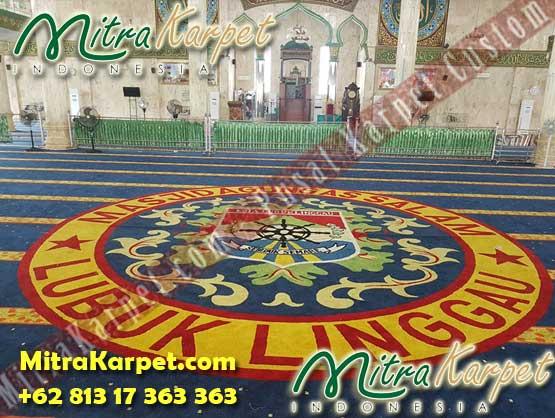 Harga Karpet Sajadah Masjid Custom Lubuk Linggau Sumatera Terpasang