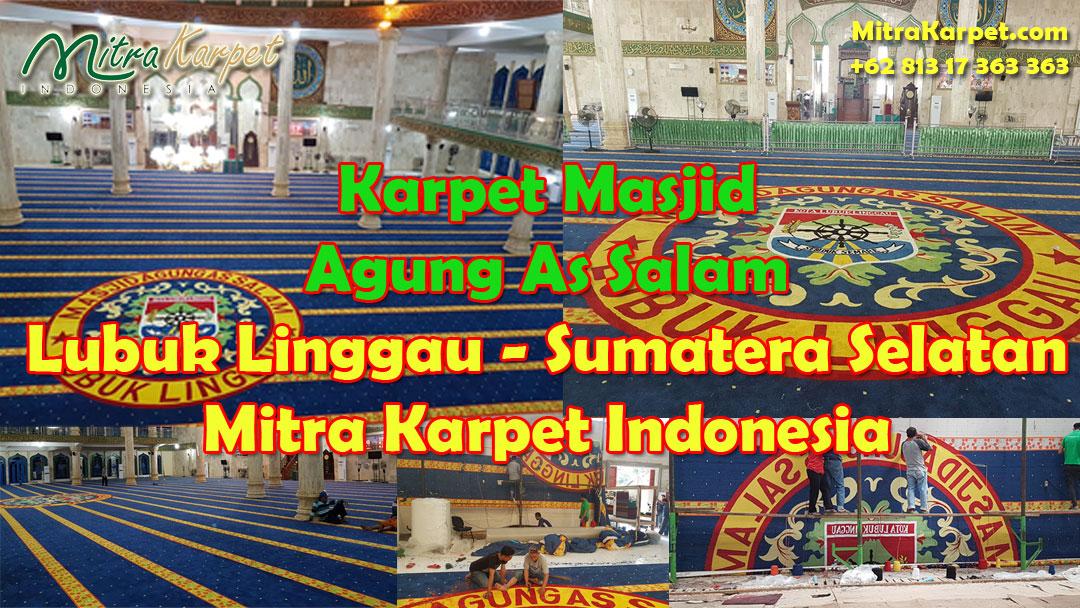 Karpet Masjid Agung As Salam Lubuk Linggau Sumatera