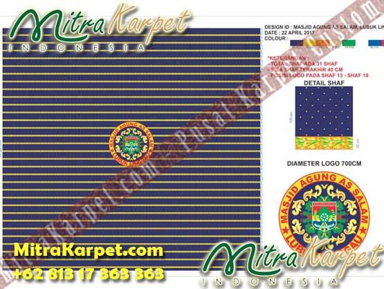 Karpet Masjid Custom Lubuk Linggau Sumatera Desain