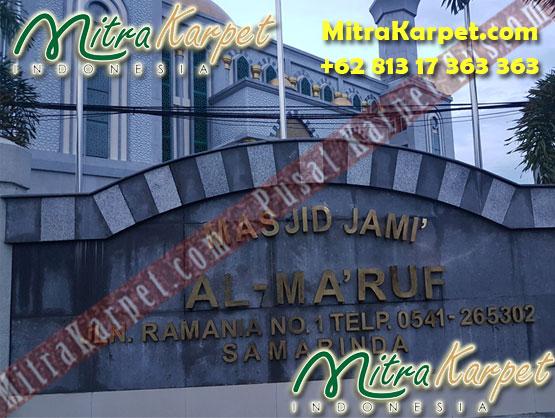 Lokasi Karpet Masjid Custom Samarinda Al Maruf Kalimantan Timur