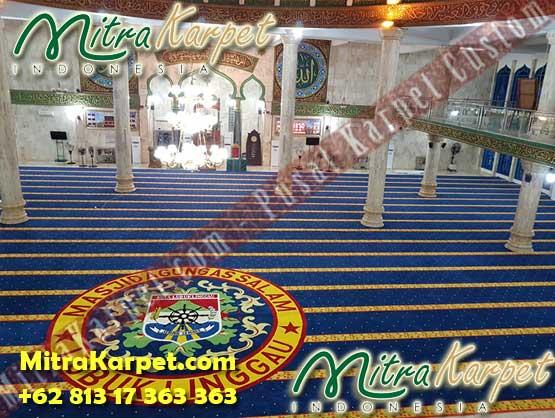 Menjual Karpet Masjid Terbaik : MAsjid Agung As Salam Lubuk Linggau Sumatera