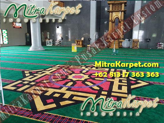 Pemasangan Karpet Masjid Custom Samarinda Al Maruf Kalimantan Timur