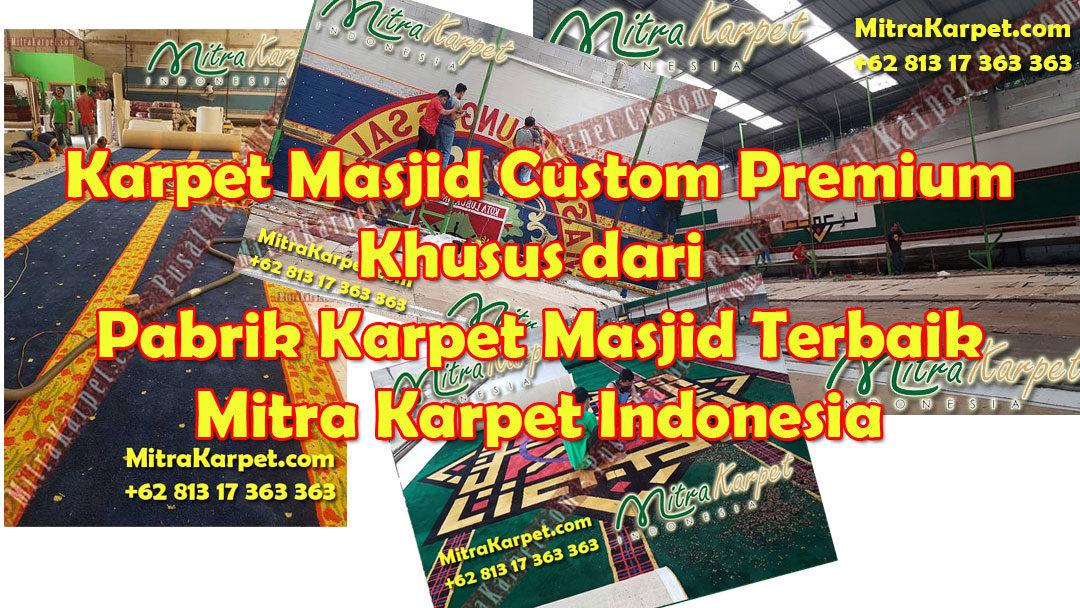 Pilihlah Pabrik Karpet Masjid yang Menyediakan Desain Karpet Masjid Custom Premium