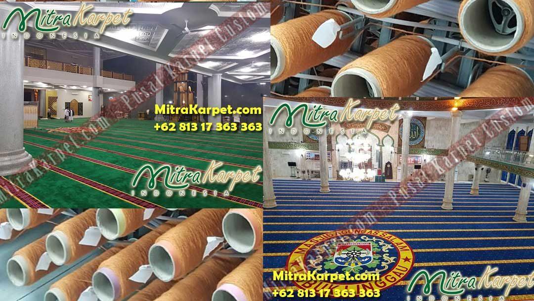 Tidak Hanya Membuat Karpet Masjid Custom, Juga Melakukan Konsultasi Desain Dan Pemasangan Karpet Masjid Sampai Selesai