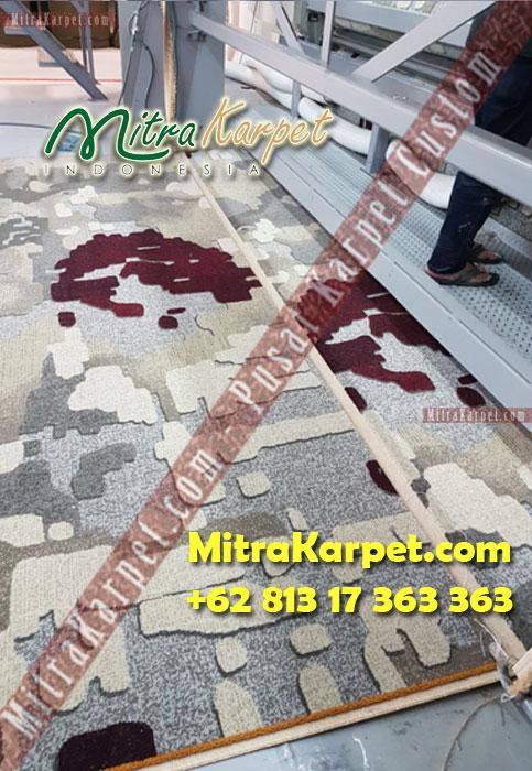 hasil produksi karpet hotel-axminster hilton surabaya