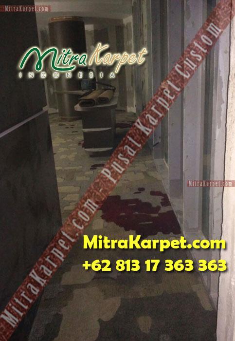 Pemasangan Karpet Axmisnter-koridor Hotel Surabaya Hilton