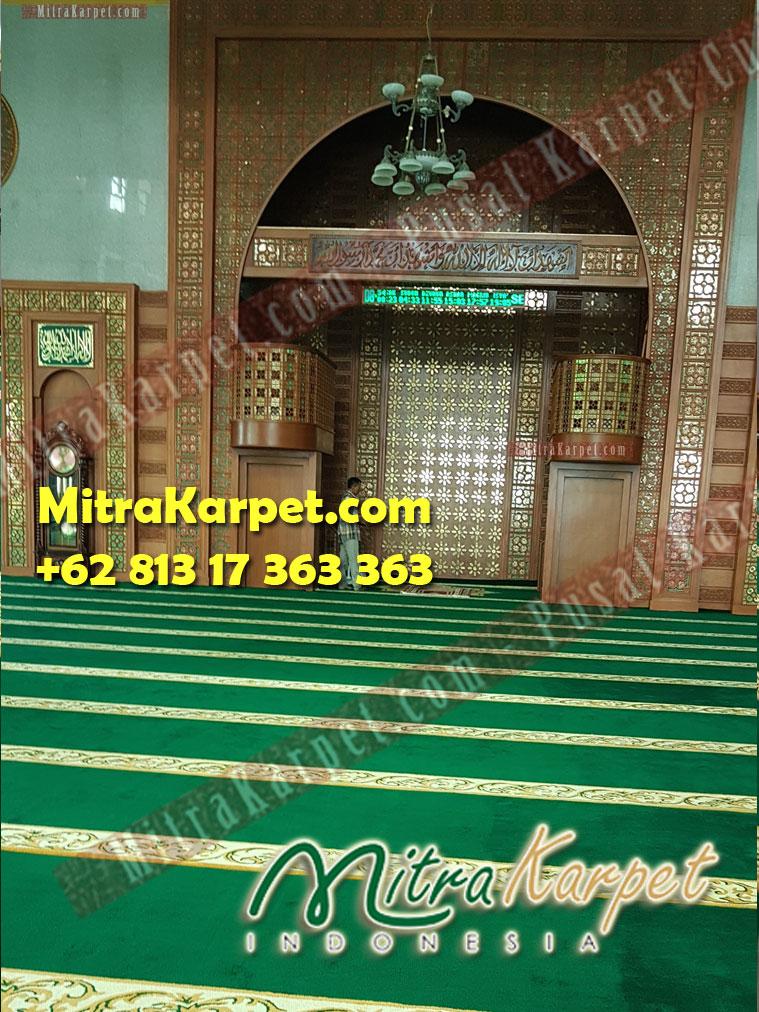 Cantik sajadah masjid kepri terbesar