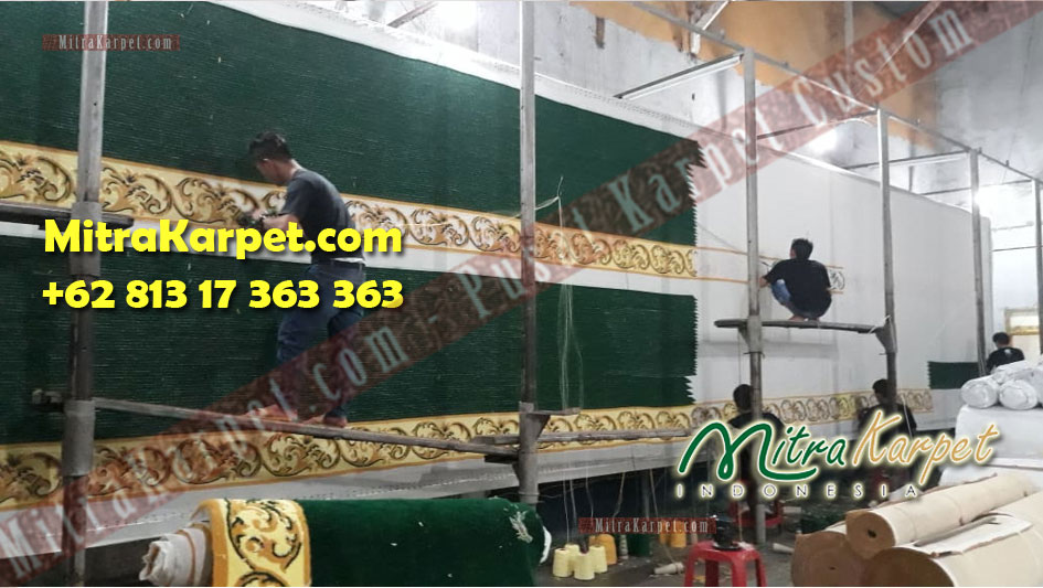 Produksi pabrik karpet masjid area kepri