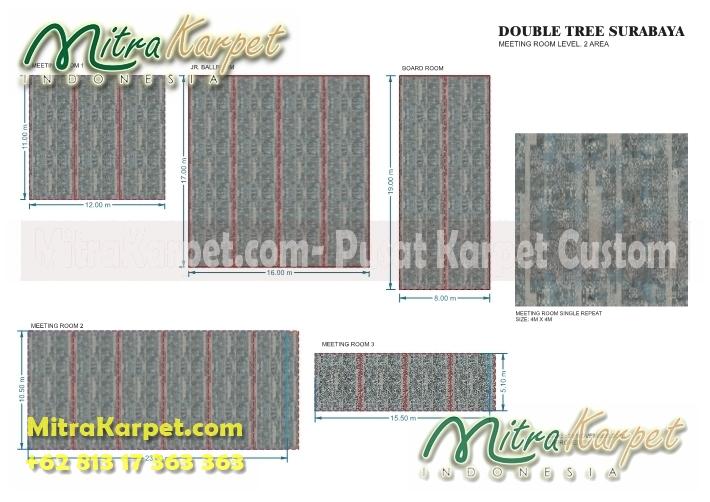 desain karpet meeting room hotel surabaya double tree lengkap