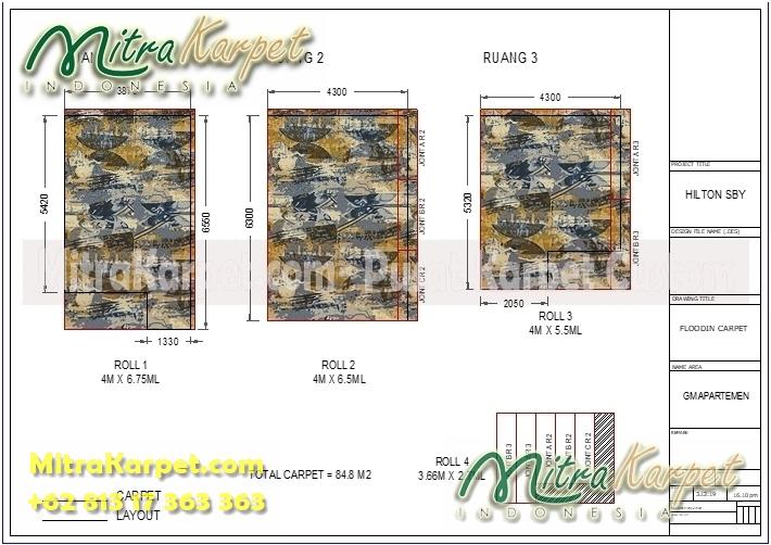 desain karpet restoran hotel surabaya doubletree lengkap