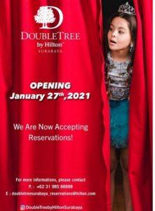 Pembukaan Hotel Double Tree Surabaya Januari 2021