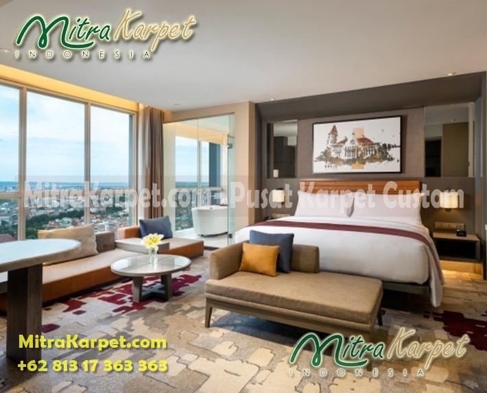 karpet hotel terpasang double tree surabaya