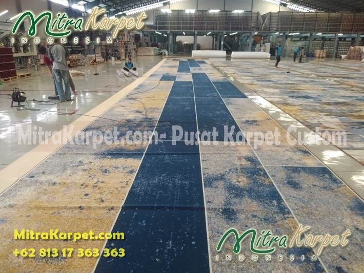 karpet koridor hotel surabaya double tree finisihing proses