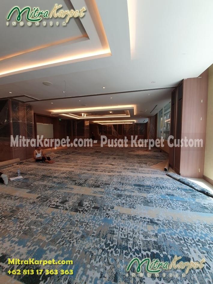 pemasangan karpet meeting hotel surabaya doubletree