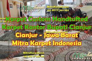 Project Karpet Kantor Bupati Cianjur Jawa Barat Menggunakan Karpet Custom Handtufted